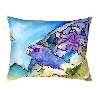 Purple Turtle No Cord Throw Pillow