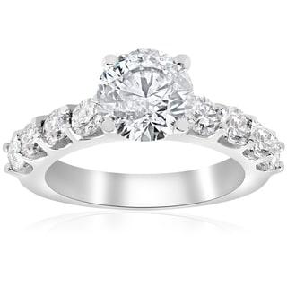 14k White Gold 3 1/10 ct TDW Diamond Clarity Enhanced Engagement Ring