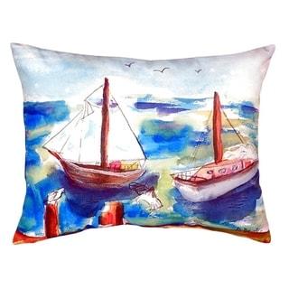 Two Sailboats No Cord Throw Pillow