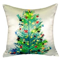 shop christmas tree truck 16 throw pillow free shipping on orders over 45. Black Bedroom Furniture Sets. Home Design Ideas