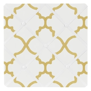 Sweet Jojo Designs White and Gold Trellis Collection Memo Board