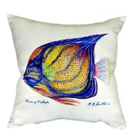 Blue Ring Angelfish No Cord Throw Pillow