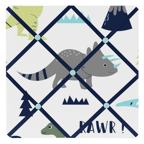 Sweet Jojo Designs Blue and Green Mod Dinosaur Collection Memo Board