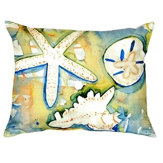 Beach Treasures No Cord Throw Pillow