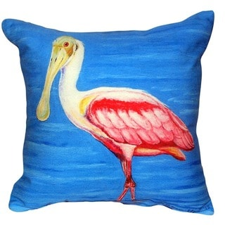 Dick's Spoonbill No Cord Indoor/ Outdoor Throw Pillow