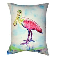 Betsy's Pink Spoonbill No Cord Throw Pillow