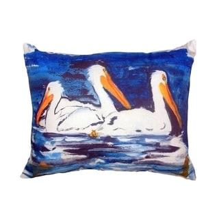 Three Pelicans No Cord Throw Pillow