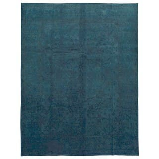Finerugcollection Handmade Overdye Blue Green Oriental Rug 9 1 X
