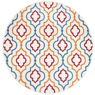 Rizzy Home Glendale Multicolor Trellis Round Area Rug (5'5 x 5'5)