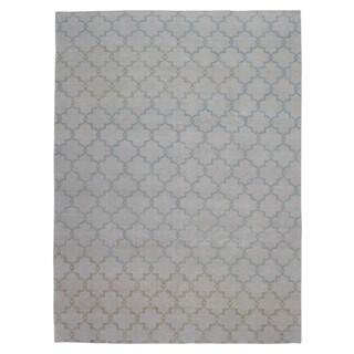 FineRugCollection Handmade Trellis Oushak Beige Oriental Wool Rug (9' x 12')