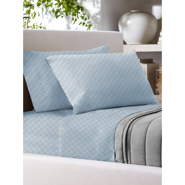 Sandra Venditti 700 Thread Count Cotton Rich Printed Sheet Set