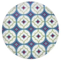 "Rizzy Home Glendale Collection Multicolored Round Area Rug - 5'6"" x 5'6"""