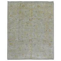 FineRugCollection Handmade Fine Pakistan Peshawar Beige Oriental Rug (8' x 9'8)