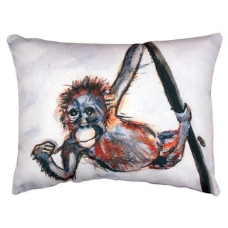 Betsy's Monkey No Cord Throw Pillow