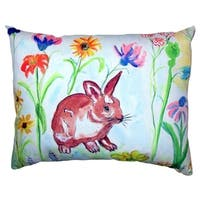 Whiskers Bunny No Cord Throw Pillow