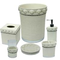 Shells & Diamonds 6 Piece Bath Accessory Set or Separates - Beige