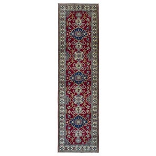 FineRugCollection Hand Made Kazak Red Wool Runner Rug (2'7 x 9'9)