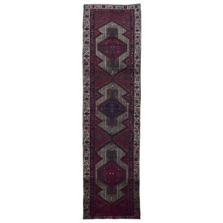 FineRugCollection Hand Made Hamadan Red Wool Runner Rug (2'9 x 10'7)
