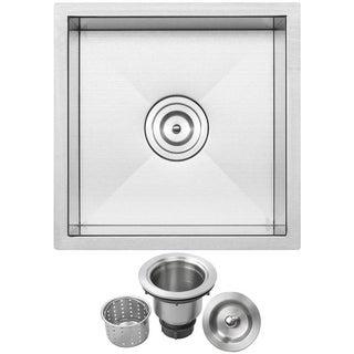 Ticor Stainless Steel Undermount 16-inch Bar Sink