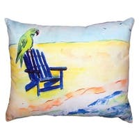 Parrot and Chair No Cord Throw Pillow