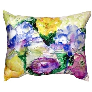 Watercolor Garden No Cord Throw Pillow
