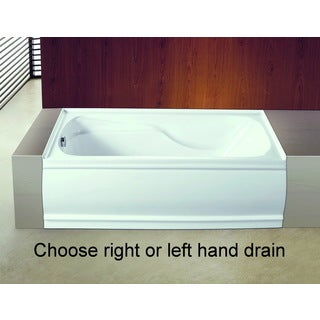 Contemporary 60-inches Acrylic Deep Soak Alcove Bathtub