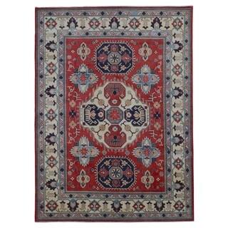 FineRugCollection Hand Made Fine Kazak Beige Wool Oriental Rug (8'1 x 10'10)