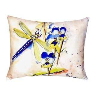 Blue Dragonfly No Cord Throw Pillow