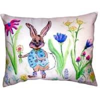 Happy Bunny No Cord Throw Pillow