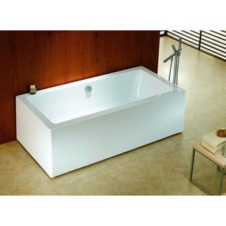 Encore 70 Inch X 33 Inch White Rectangle Soaking Bathtub