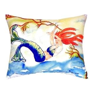 Resting Mermaid No Cord Throw Pillow