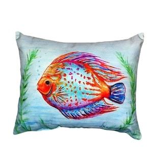 Orange Fish No Cord Throw Pillow