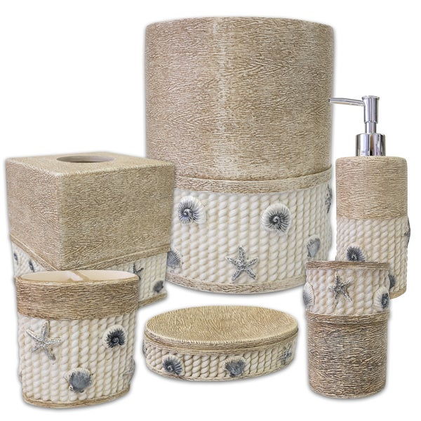 Harbour 6 Piece Bath Accessory Set Or Separates  Ivory