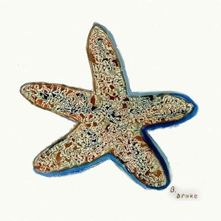 Starfish Fiber Coaster (Set of 4)
