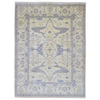 FineRugCollection Hand Made Oushak Beige Wool Oriental Rug (9'2 x 12'2)