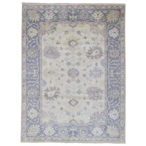 FineRugCollection Hand Made Oushak Beige Wool Oriental Rug