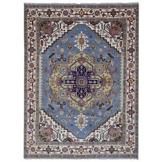 FineRugCollection Hand Made Serapi Blue Wool Oriental Rug (9'2 x 12'2)