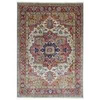 FineRugCollection Hand Made Very Fine Serapi Red Wool Oriental Rug - 8'6 x 12'1