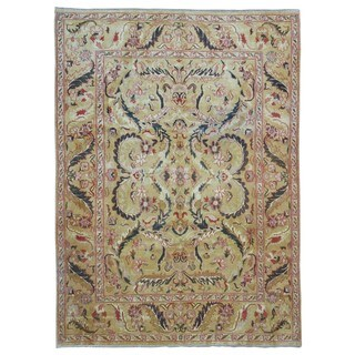 FineRugCollection Hand Made Agra Gold Wool Oriental Rug (9' x 12'2)