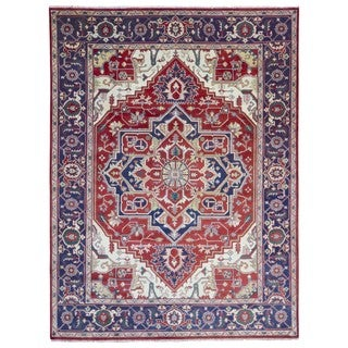 FineRugCollection Hand Made Serapi Red Wool Oriental Rug (9'2 x 12'1)