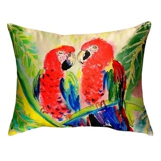 Two Parrots No Cord Throw Pillow