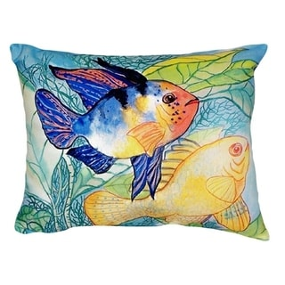 Betsy's Two Fish No Cord Throw Pillow