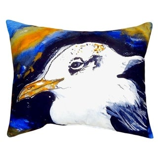 Gull Portrait Left No Cord Throw Pillow