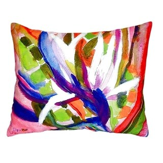 Betsy's Bird of Paradise No Cord Throw Pillow