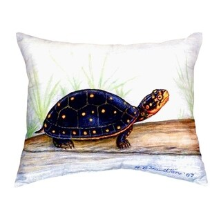 Spotted Turtle No Cord Throw Pillow