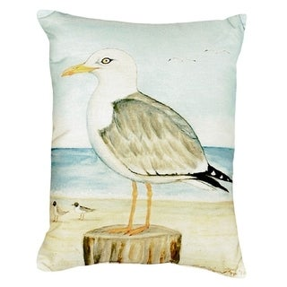 Dick's Seagull No Cord Throw Pillow