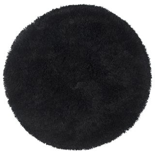Rizzy Home Commons Black Hand-tufted Area Rug (3' Round)