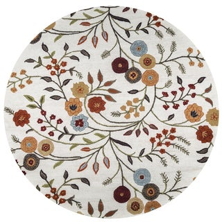 Rizzy Home Multicolored Wool Hand-tufted Round Area Rug (8' Round)