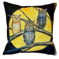 Night Owls No Cord Throw Pillow