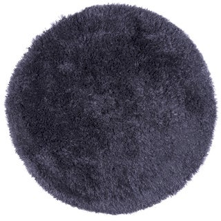 Hand-Tufted Commons gray Polyester solid Round Area Rug (3' Round)